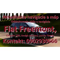Aktualizácia navigácie a máp Fiat Freemont